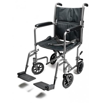 Lightweight Aluminum Transport Wheelchair