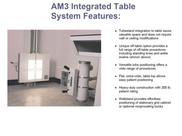 americomp inegrated table system