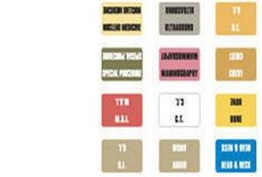 Category Labels (for White Insert Jacket)