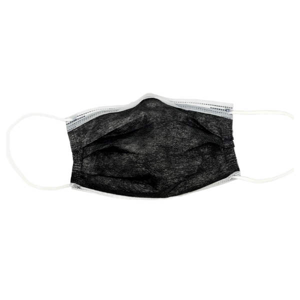 3-PLY BLACK SURGICAL MASK