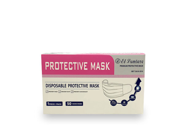 3-PLY PINK SURGICAL MASK