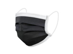 Black 3-Ply Blue Face Mask